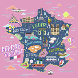 France travel map Stock Image