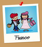 France travel polaroid people Royalty Free Stock Photography