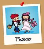 France travel polaroid people Royalty Free Stock Photography