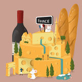 France travel poster Stock Photos