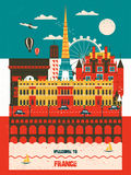 France travel poster Royalty Free Stock Image