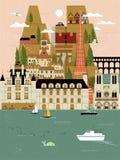 France travel poster Stock Photo