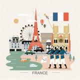 France travel poster Stock Image