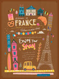 France travel poster Royalty Free Stock Photo