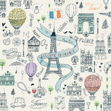 France travel poster Stock Photography