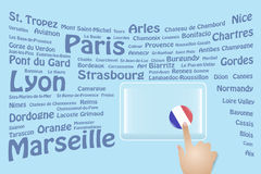 France Travel Touch Screen Royalty Free Stock Images