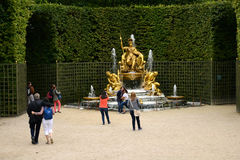 France, Triumphal arch grove in Versailles Palace park Stock Photography