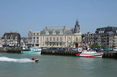 France, Trouville port in Normandy Royalty Free Stock Image