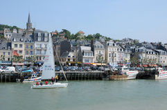 France, Trouville port in Normandy Stock Image