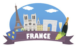 france Turismo e curso Imagem de Stock Royalty Free