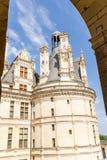 france Uma das torres do castelo de Chambord, 1519 - 1547 anos Imagens de Stock Royalty Free