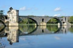 France, Vaucluse, Avignon, Avigon Bridge, Bezenet Bridge. Stock Photos
