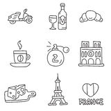 France. Vector icons Royalty Free Stock Images