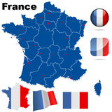 France vector set. royalty free illustration