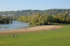 France , Verneuil Sur Seine leisure park Royalty Free Stock Images