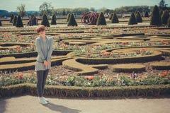 France,  Versailles - June 17, 2011: women in Stock Image