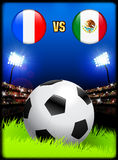 France versus Mexico on Soccer Stadium Event Background Royalty Free Stock Photography