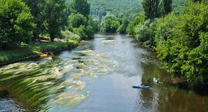 France Vezere river in Tursac Stock Photography
