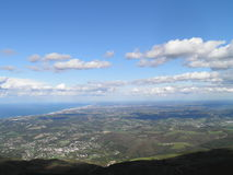 France view from the mountain. View of the beach of France, from Mount Larun Stock Images