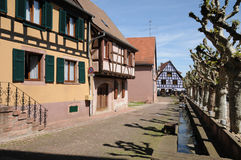 France, the village of Bergheim  in Alsace Stock Photography