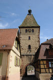France, the village of Bergheim  in Alsace Royalty Free Stock Images