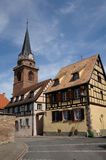France, the village of Bergheim  in Alsace Stock Photo