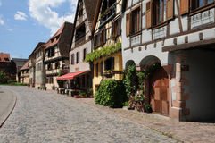 France, the village of Bergheim  in Alsace Royalty Free Stock Photo