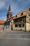 France, the village of Bergheim  in Alsace Stock Images