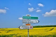 France, the village of Drocourt in Ile de France Stock Image
