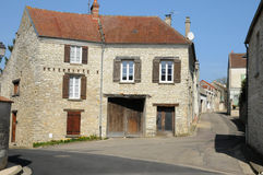 France, the village of Fontenay Saint Pere Royalty Free Stock Photography