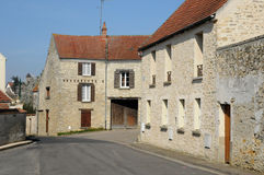 France, the village of Fontenay Saint Pere Stock Image