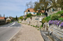 France, the village of Haute Isle in Val d Oise. Ile de France, the village of Haute Isle in Val d Oise Stock Photo