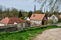 France, the village of Haute Isle in Val d Oise. Ile de France, the village of Haute Isle in Val d Oise Stock Image