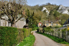 France, the village of Haute Isle in Val d Oise Stock Photography