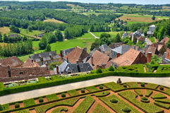 France, the village of Hautefort in Dordogne Royalty Free Stock Photography
