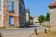 France, village of Jambville in Ile de France Stock Photo