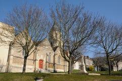 France, the village of Saint Martin la Garenne in Les Yvelines Stock Image