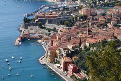 France, villefranche sur Mer, Citadel. In France, Villefranche sur Mer on the french riviera  is a medieval city with its fortress and citadel Royalty Free Stock Photo