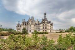 france Vista cênico do castelo de Chambord incluída na lista do patrimônio mundial do UNESCO, 1519 - 1547 anos Fotografia de Stock Royalty Free