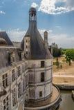 france Vista de uma das torres do castelo de Chambord, 1519 - 1547 anos Foto de Stock