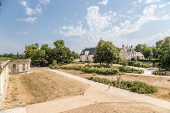 france Vista do castelo de Chambord Foto de Stock Royalty Free