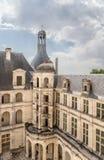 france Vista do pátio do castelo de Chambord, 1519 - 1547 anos Imagens de Stock