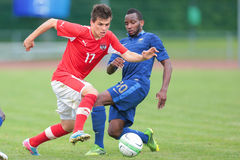 France vs. Austria (U19) Royalty Free Stock Photography