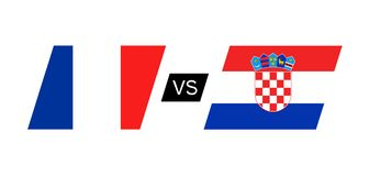 France vs Croatia flags. Creative design of France vs Croatia flags Royalty Free Stock Photos