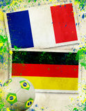 France vs Germany football concept Royalty Free Stock Photography