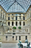france wśrodku louvre Paris patia Obraz Royalty Free