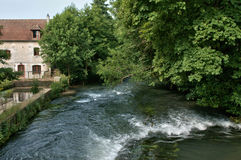 France, water mill in Radepont in Normandie Royalty Free Stock Image
