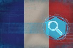 France web search. Computer search concept. Stock Images