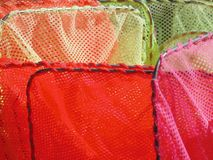 Dip nets for fishing shrimp stock image