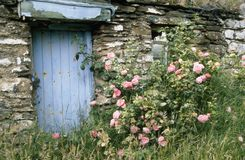 France: wild romantic natur and landscape in the Bretagne around a typical stone house. France: wild romantic natur and landscape in the Bretagne around this royalty free stock photo